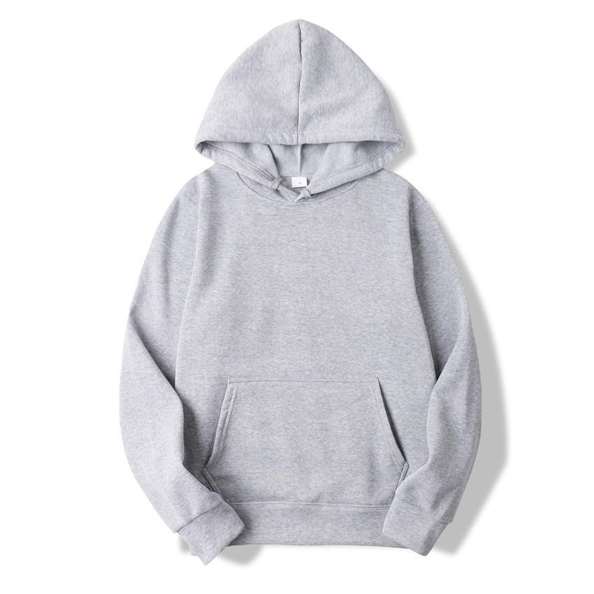Quality Brand Men Hoodie Autumn Male Hip Hop Street wear Men Pullover Sweatshirts Hoodies Mens Solid Color Hoodie 5