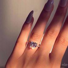 Милое женское кольцо с сердцем и цирконием, серебро 925 пробы, свадебные ювелирные изделия, обручальные кольца для женщин, подарок на день Святого Валентина