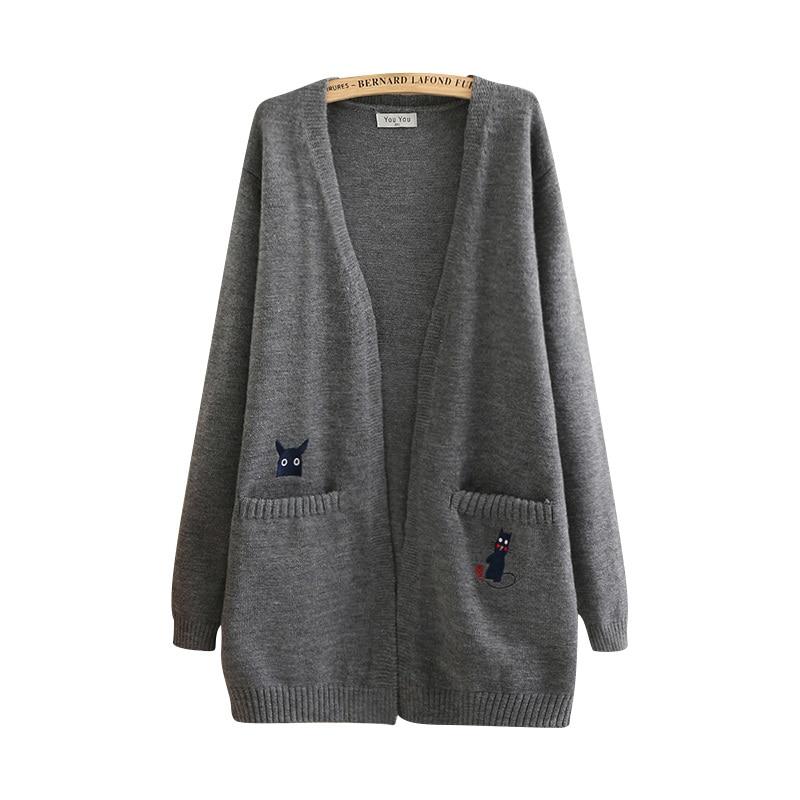 Femmes De Vs460 Chandail Grande Lâche Long Plage 2019 Gray navy Mode Tricots Taille Kimono Nouvelle Hiver Mince Femelle Automne Moyen Manteau Printemps wtHOS
