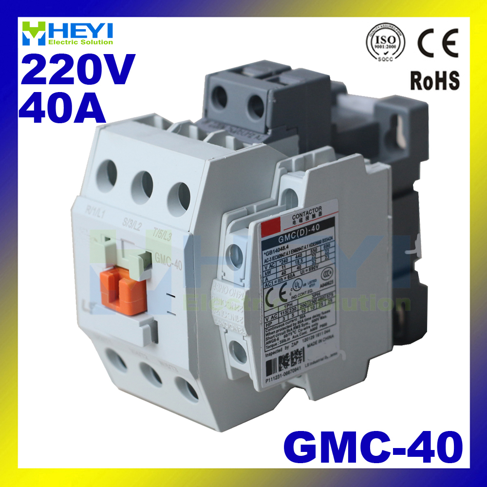 US $10 56 5% OFF|Gmc 40 Types of Contactor Protect Power Circuit Three Pole  220V 40A 50Hz for AC Motor 690V insulate class-in Contactors from Home