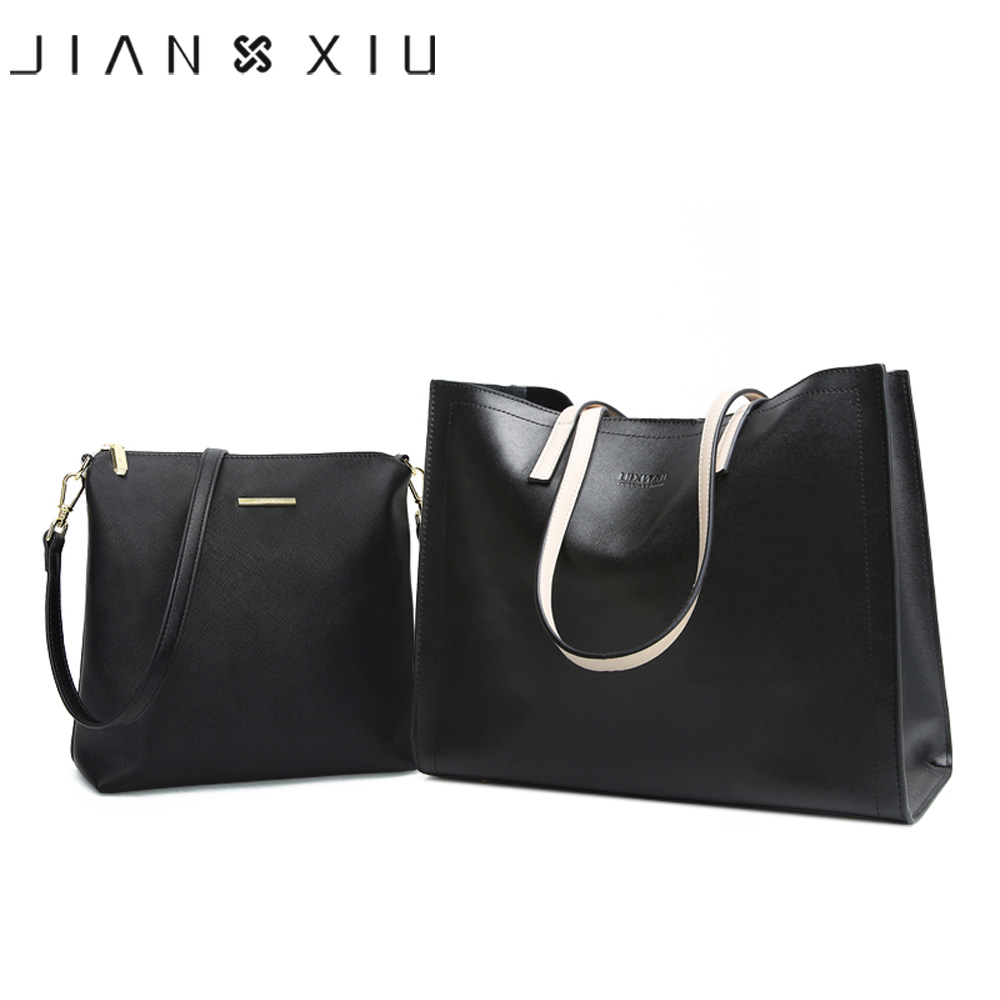 JIANXIU Brand Split Leather Luxury Handbag Women Bags Designer High Quality Cross Texture Tote 2017 Big