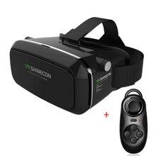 Vrshineconเกียร์ความเป็นจริงเสมือนแว่นตา3มิติกระดาษแข็งgoogleheadmountภาพยนตร์3dเกม3.5-6.0inch+bluetoothการควบคุมระยะไกล