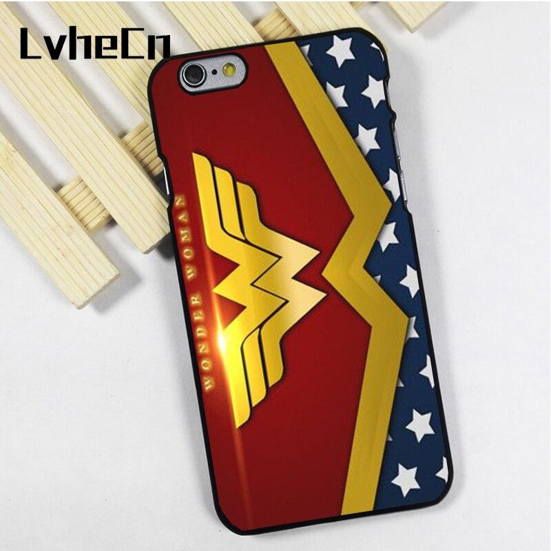 Lvhecn Телефон чехол для iPhone 4 4S 5 5S 5C SE 6 6S 7 8 Plus X Ipod Touch 4 5 6 Wonder Woman