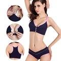 Algodão sutiã de Maternidade sutiã + calcinha conjunto Amamentação evitar a flacidez bra enfermeira para as mulheres grávidas esportes underwear Bra roupas de Enfermagem