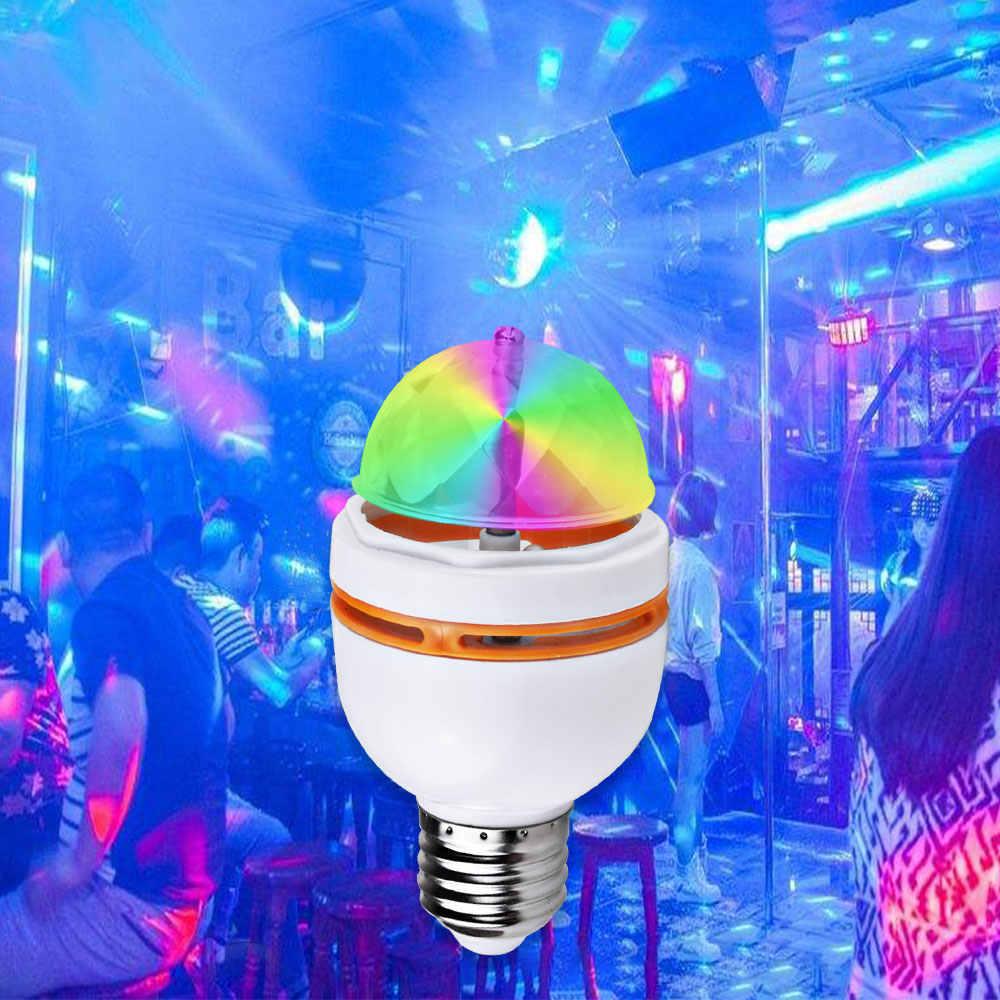E27 3W colorido Auto giratorio RGB bombilla LED Luz de escenario fiesta lámpara Disco para decoración del hogar lámparas de iluminación