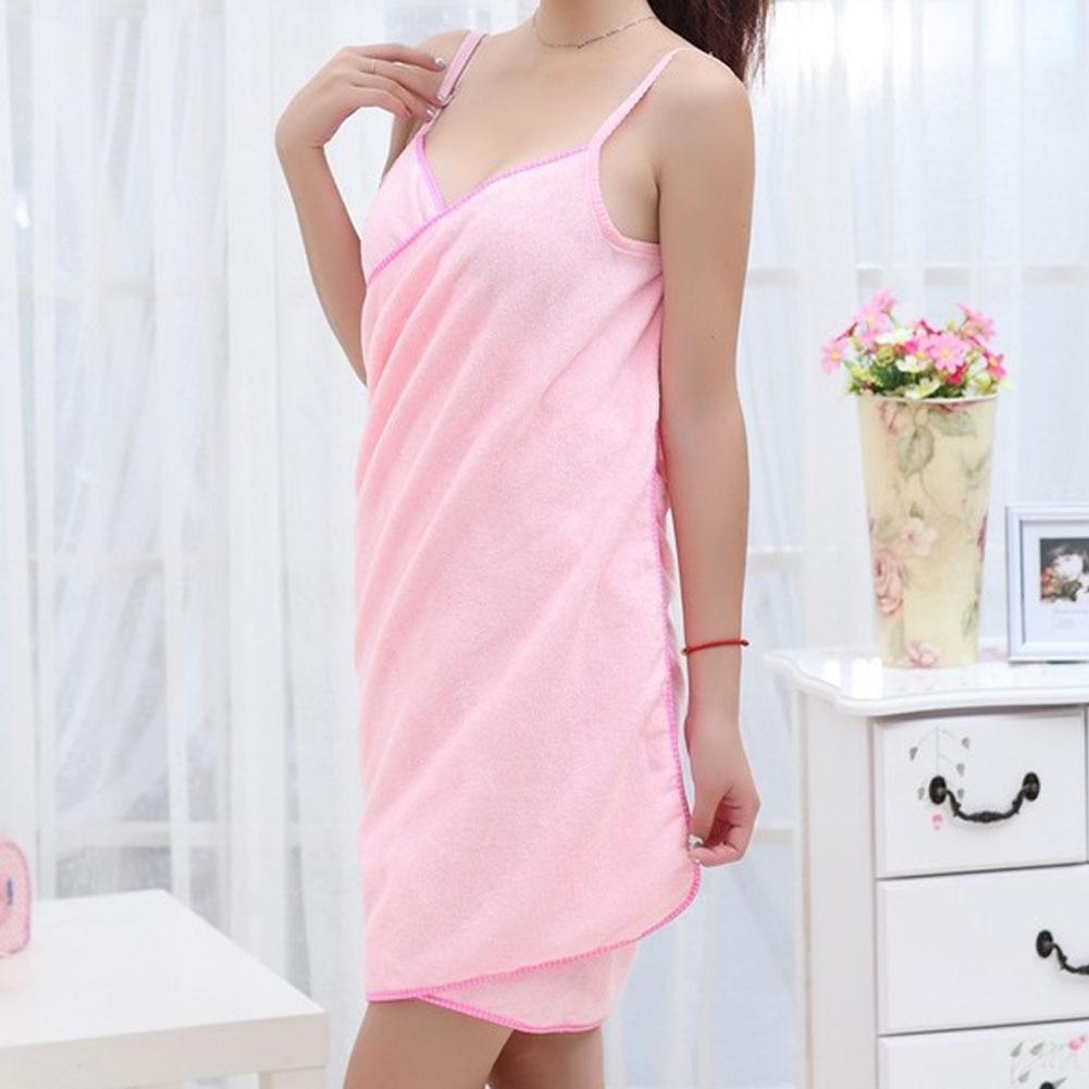 Moda señora Niñas Wearable de secado rápido Magic Bañeras toalla playa spa Bañeras robes Bañeras falda e2s