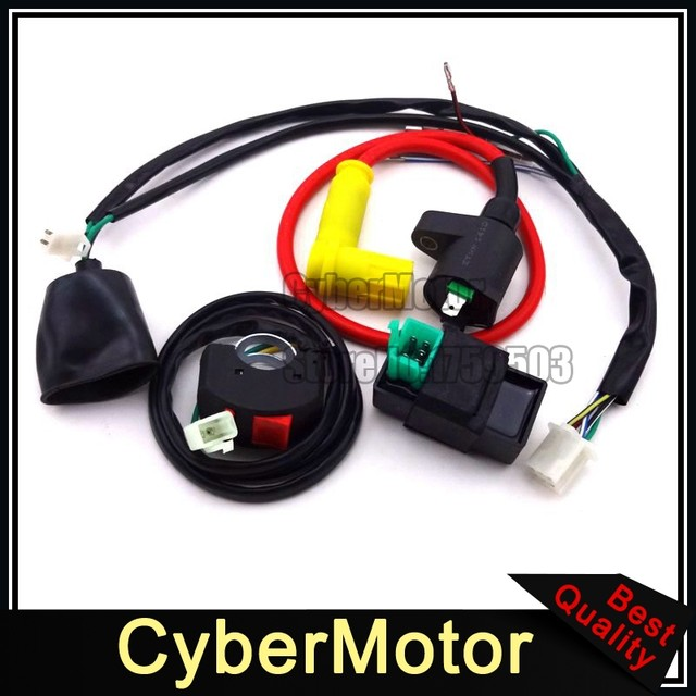 online shop ignition coil ac cdi wiring loom harness kill switch for rh m aliexpress com