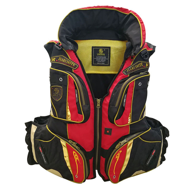 Men Women Fishing Life Vest Outdoor Water Sports Safety Life Jacket For Boat Drifting Survival Swimwear