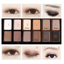 Eyeshadow Plate 12 Color Shimmer Matte Combination Waterproof Makeup Eye Shadow Natural Cosmetic