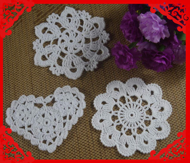 Free Shipping Wholesale Retro Crochet Pattern Doily Hand Made