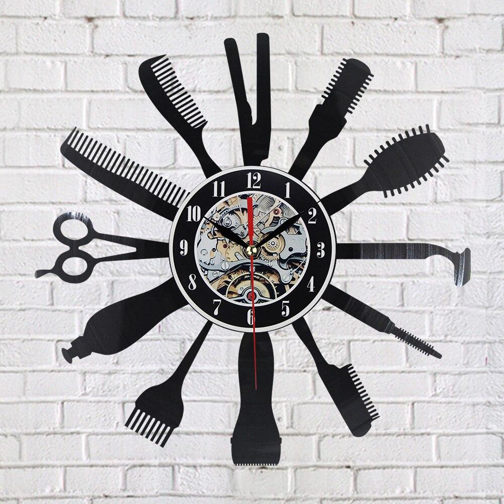 buy creative vinyl wall clock gift idea. Black Bedroom Furniture Sets. Home Design Ideas