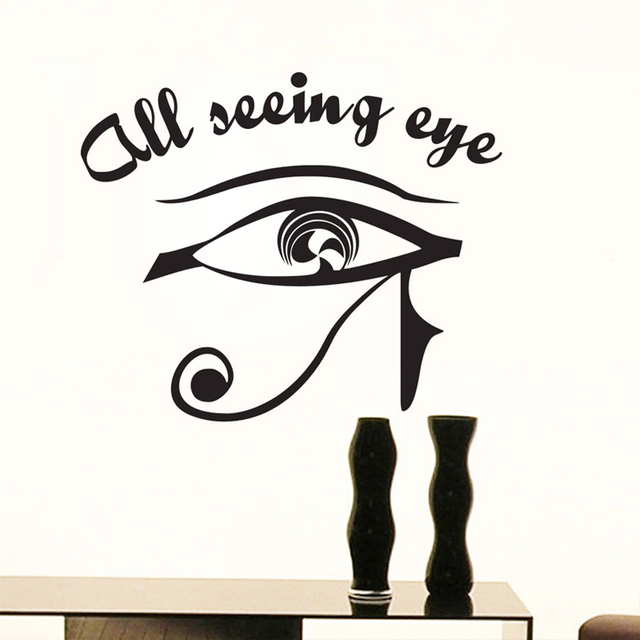 Aliexpresscom Buy All Seeing Eye Wall Decal Illuminati Vinyl - Vinyl stickers designaliexpresscombuy eyes new design vinyl wall stickers eye wall