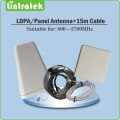 Log-periodic Outdoor antenna Panel indoor Antenna 15 meter cables Accessories for 800~2700mhz Mobile signal repeater