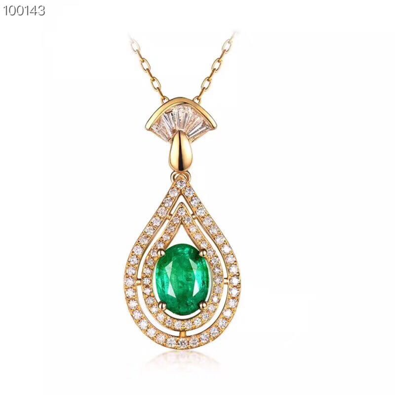 natural emerald pendants s925 sterling silver fashion fine jewelry for women natural green gemstone