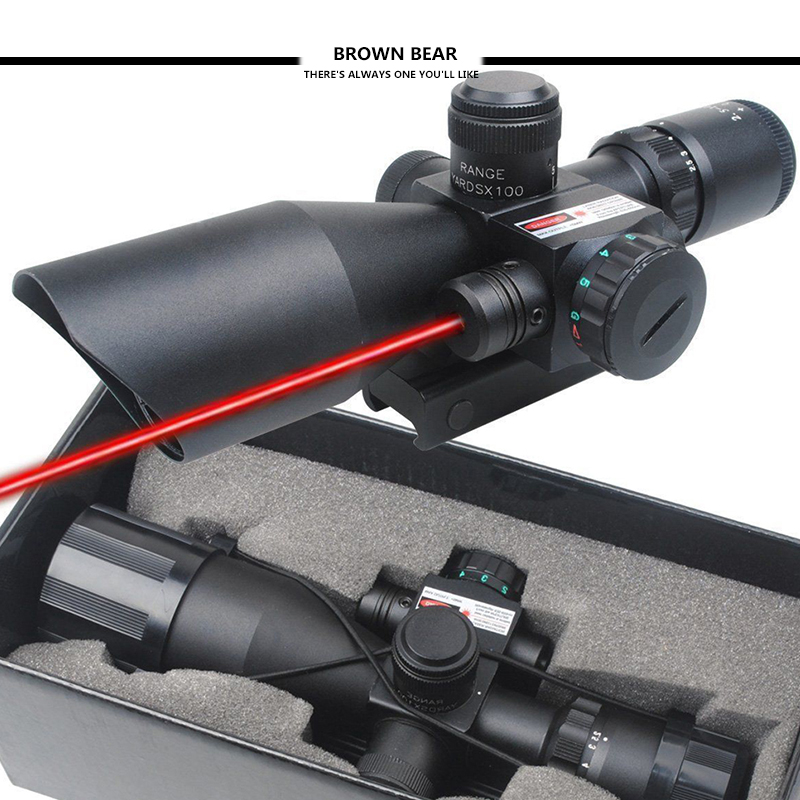 Tactical Rifle Scope 2.5-10x40 Mil-dot Red Green illuminated w/ Red Laser Mount 2pcs ferrite magnet ring od 70x32x15 mm for subwoofer c8 ceramic magnets for diy loud speaker sound box board home use