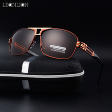 LeonLion 2017 New HD Polarized Mirror Classic Sunglasses Men UV400 Safety Retro Metal Goggle Glasses Male Eyewear Accessories