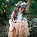 lace mesh princess girls dresses autumn 2016 party maxi long kids dress for little teenage girl kids clothes children clothing