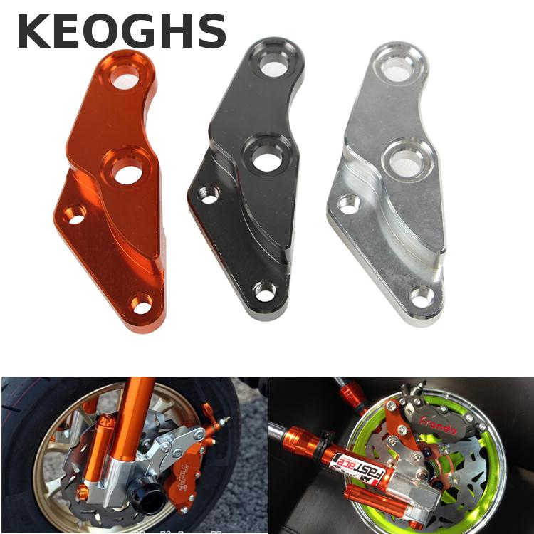 Keoghs Motorcycle Brake Caliper Bracket Cnc Aluminum Alloy For 200/220mm Disc For 40mm Brake Caliper  For Yamaha Force Jog Rsz keoghs adelin motorcycle brake disc floating 220mm disc cnc aluminum alloy stainless steel for yamaha scooter modified