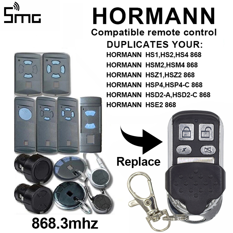HORMANN HSE2 868 MARANTEC Digital Garage Gate Door Remote Control Wireless Transmitter Switch 4 Button Key Duplicator 868mhz