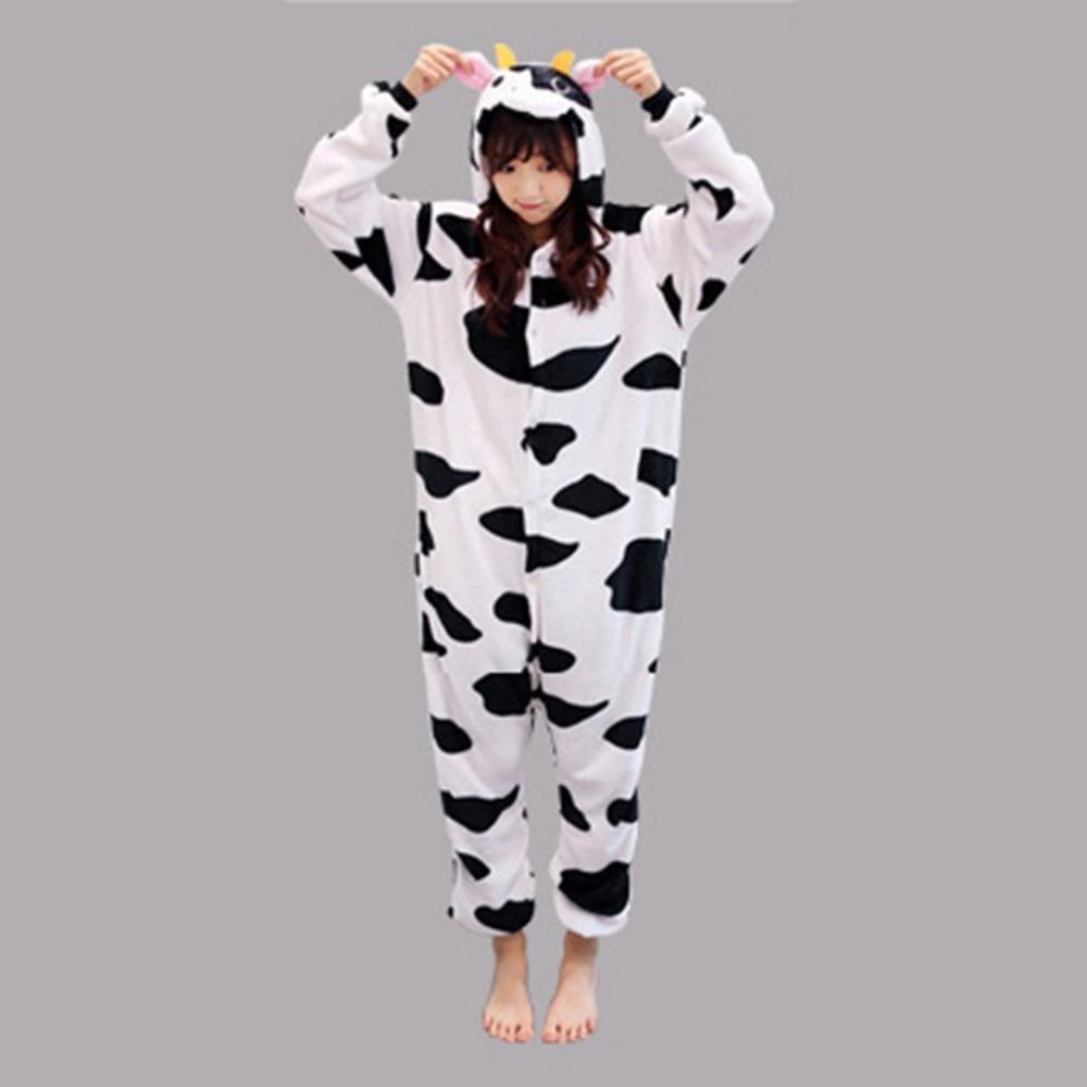2018 Christmas Adult Anime Pajama Sets Cartoon Sleepwear Women Pajamas Flannel Animal Panda Unicorn Pajama Winter Warm Hooded