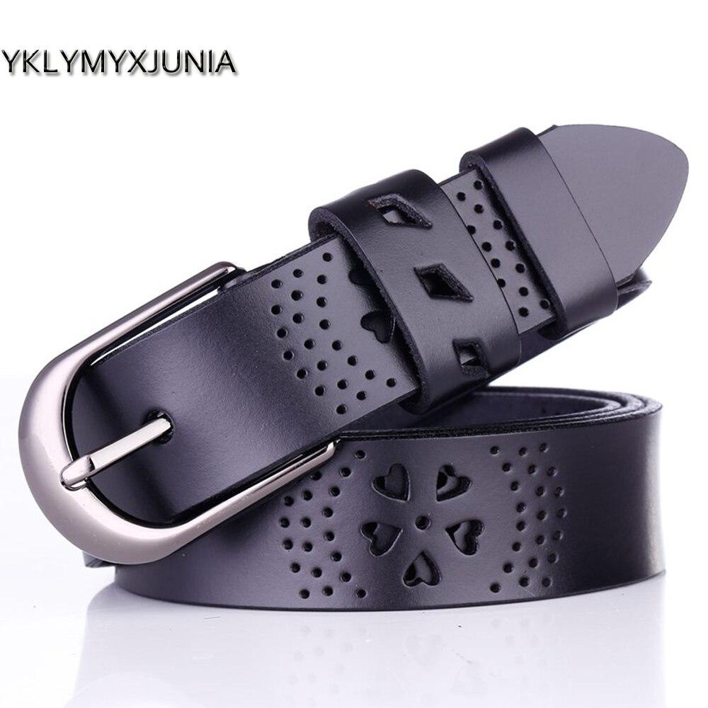 Cinturón para mujer 2019 Moda femenina cinturones estilo cinturones cuero mujer femenino cinturón de cuero genuino Las mujeres correa de cuero