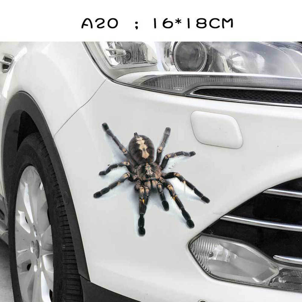 3D รถสติกเกอร์สัตว์กันชน Spider Gecko แมงป่องรถ Abarth ไวนิล Decal สติกเกอร์รถยนต์รถยนต์รถจักรยานยนต์อุปกรณ์เสริม