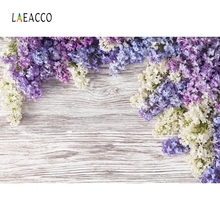 Laeacco Photography Backdrops Wooden Boards Bright Flowers Planks Wallpapers Of Photographic Backgrounds For Photo Studio Cloth