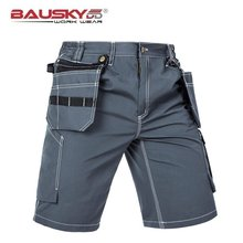 Mens Casual Cargo Work Pants For Repairman Mechanic With Knee Pads Multi Pocket Cotton Polyester Fabric Free Shipping цены онлайн