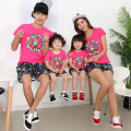 Family Matching Outfits boy girl tshirt couples Clothes summer children pattered cotton T-shirt family look