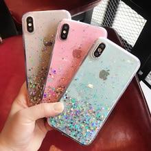 Glitter Sequin Transparent Phone Case For iPhone