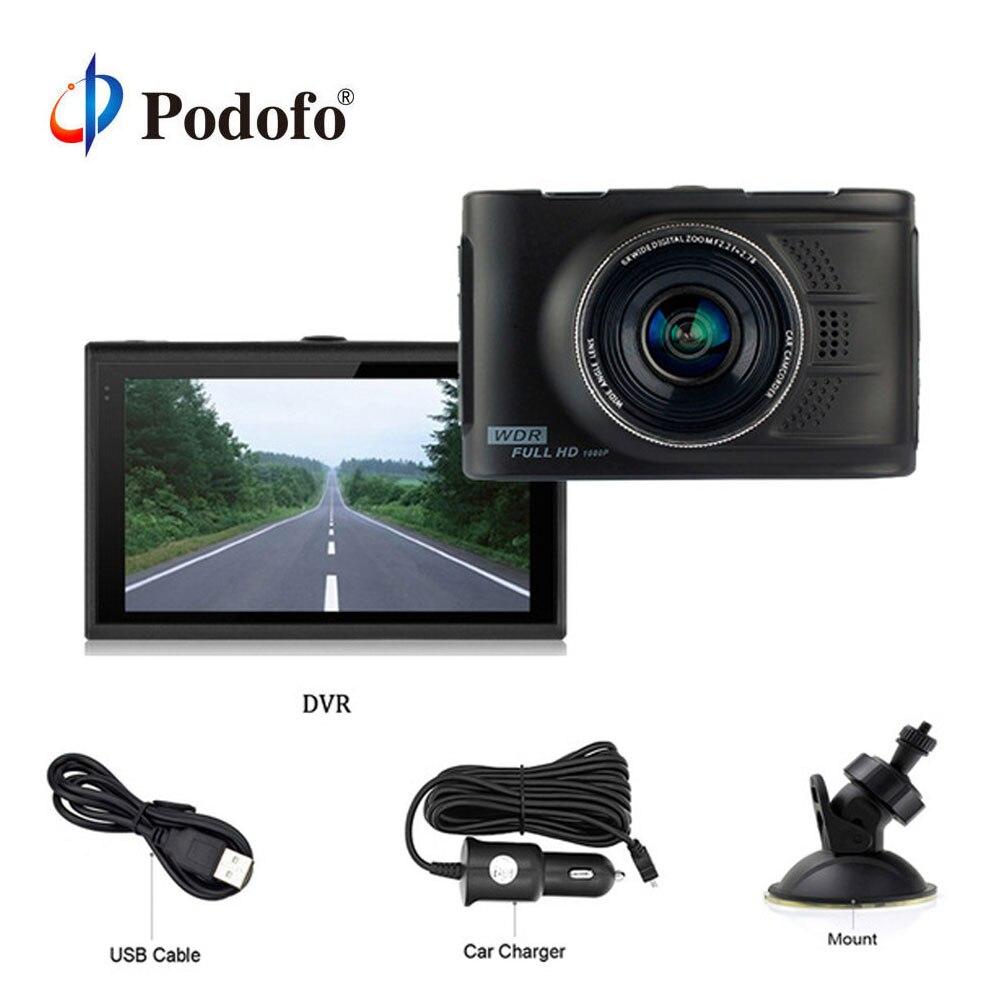 Podofo Mini coche Dvr 3,0 pulgadas Auto registrador Original Novatek 96223 grabadora de Video Digital WDR Full HD 1080 P Dash cam