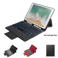 Bluetooth Wireless Keyboard Case For iPad 9.7 2018 2017 With Pencil Holder Smart PU Leather Full Cover For iPad Pro 10.5 Case