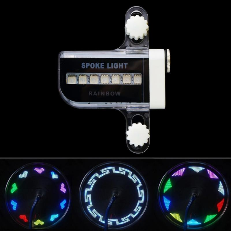 Shock Sensor Wheel Spoke LED Lamp Universal Mountain Bike Bicycle Wheel Tire Decoration Colorized 14 LED Light