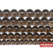 Branelli allentati di vetro fumé liscio di pietra naturale 15