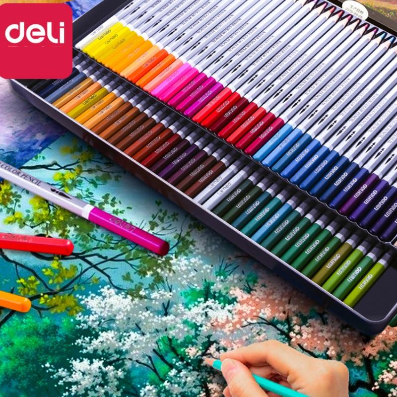 Crayon De couleur Deli Art Lapis De Cor crayon De couleur pour peinture croquis calotte huileuse Soluble dans l'eau De couleurs Profesionales Dibujo