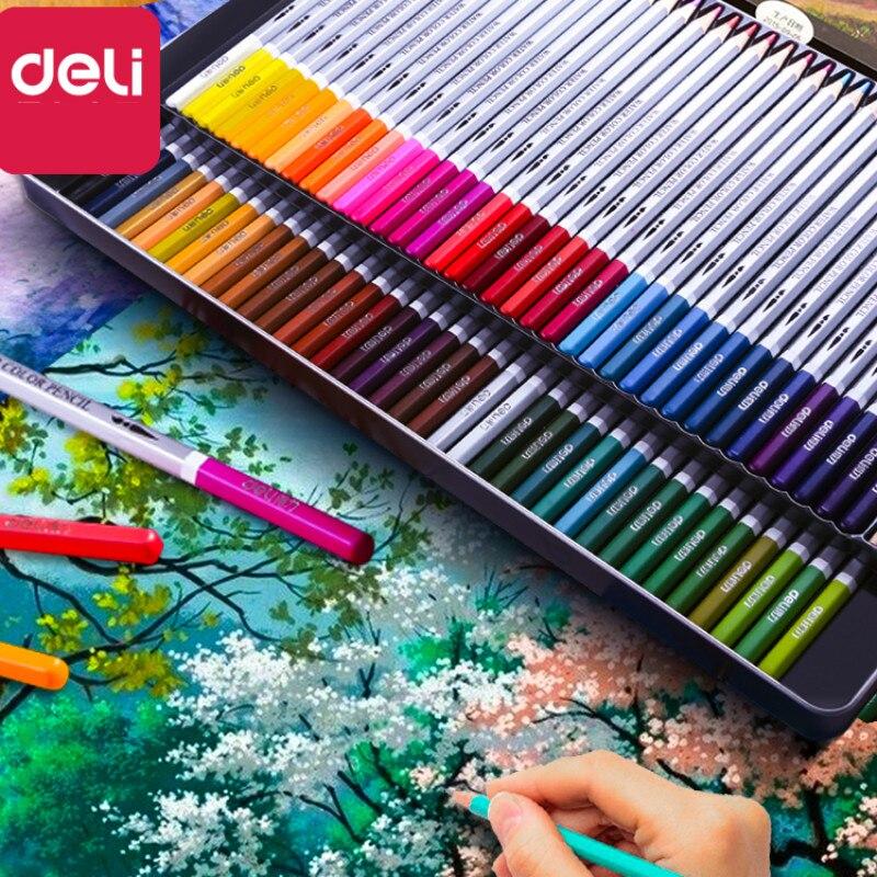 Deli Color Pencil Art Lapis De Cor Color Pencil for Painting Sketch Water Soluble Oily Lapices De Colores Profesionales Dibujo