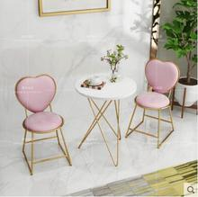 Nordic minimalist gold dresser chair nail stool coffee milk tea leisure chair iron chair back flannel chair цены