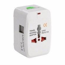 All in One Universal International 2 Porta USB World Travel Plug Adapter AU EUA REINO UNIDO DA UE Adaptador AC Carregador de Energia Conversor