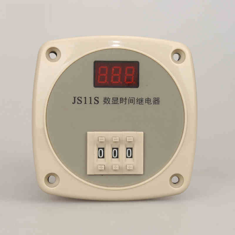 JS11S Customized 3 Digits Time Relay Timer Relay Time Range & Voltage Digital Tme Relay 220V 24V 12V optional