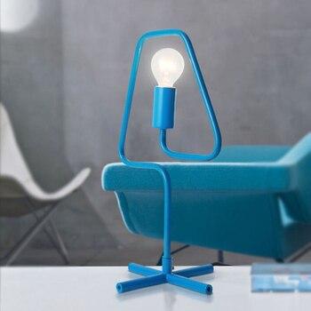 JAXLONG Nordic Modern Table Lights Creative Living Room Simple Personality Desk Lamp Macarons Bedroom Bedside Desk Light Fixture