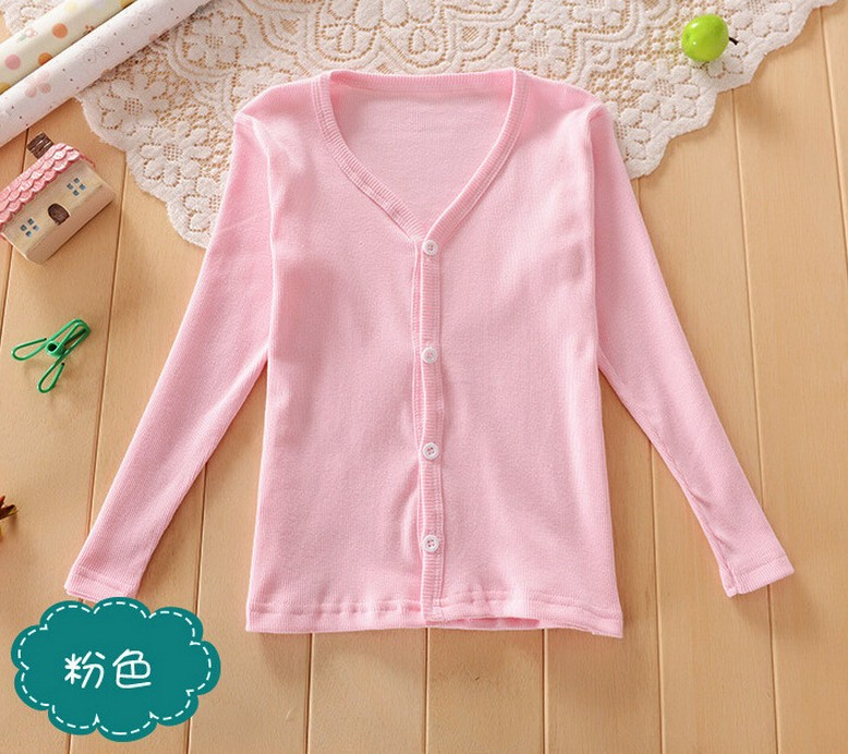 2016 Spring Summer cotton candy-colored cardigan sweaters for2-9Y kid boys girls clothes children outwear kids girl sweater coat