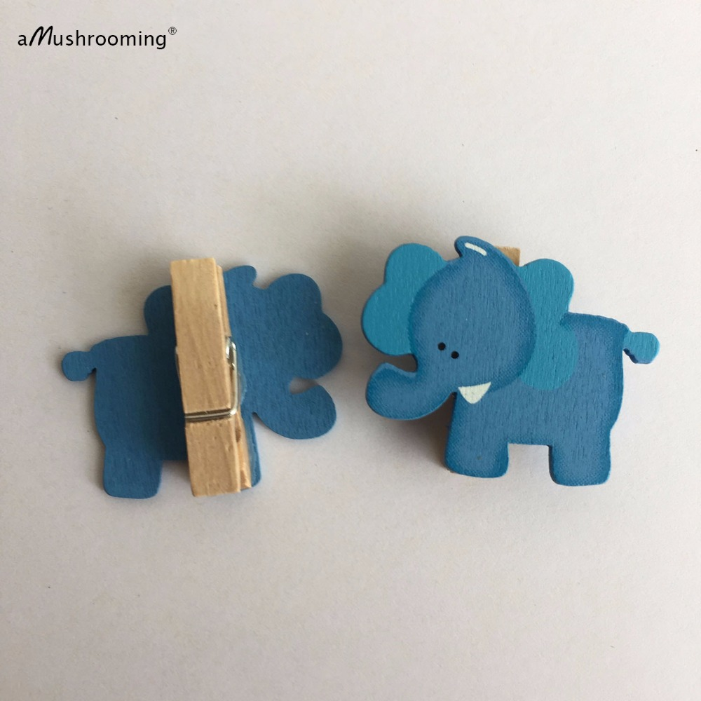 48 Blue Baby Shower Clothes Pins | Blue Elephant Clothes Peg Boy Baby  Shower Decorations In Party DIY Decorations From Home U0026 Garden On  Aliexpress.com ...