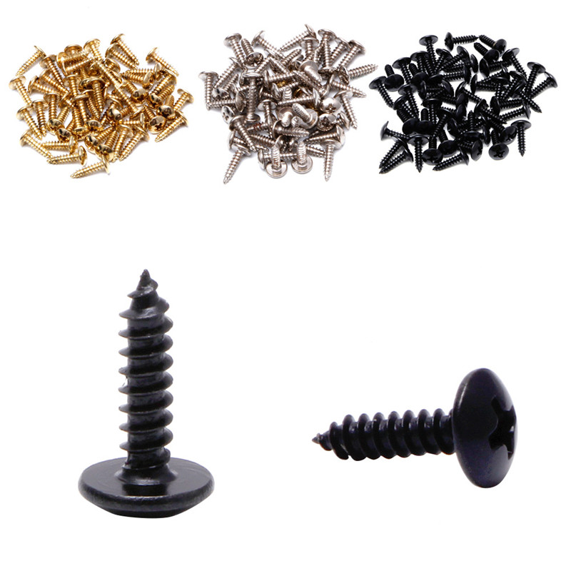 50Pcs Black Guitar Bass Pickguard Mounting Screws For ST TL SG LP Guitar image