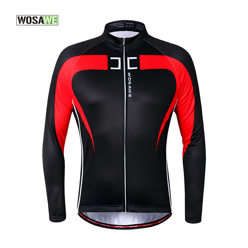 WOSAWE 2016 Cycling Jacket Winter Thermal Jacket FLeece Bicycle Top Jersey Mtb Men Long Sleeve Running Coat Sports Bike Jackets  wosawe outdoor sports windproof winter long sleeve cycling jacket unisex fleece thermal mtb riding bike jersey men s coat