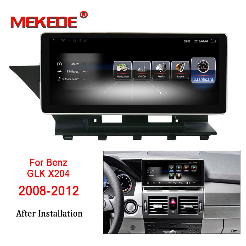 Free shipping android7 1 Car multimedia Player for Mercedes Benz GLK X204 2008 2012 support 4G
