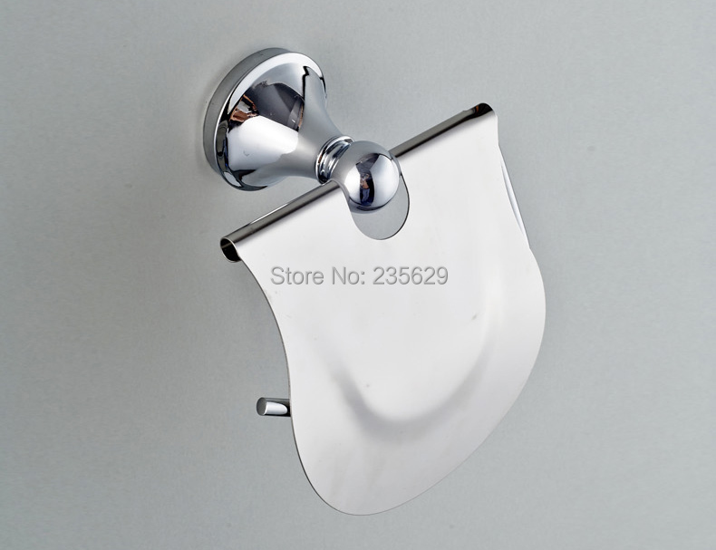 Free Shipping, Bathroom Wall Mounted Toilet Roll Holder, Mirror Finish Stainless Steel Toilet Roll Holder