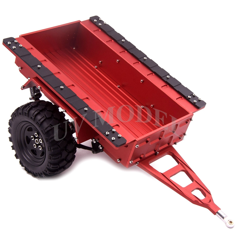 1:10 Scaled Car Flatbed Alloy Trailer for Axial SCX10 CC01 F350 Hilux 90034 RC4WD D90 Cod FH31000 FH31001