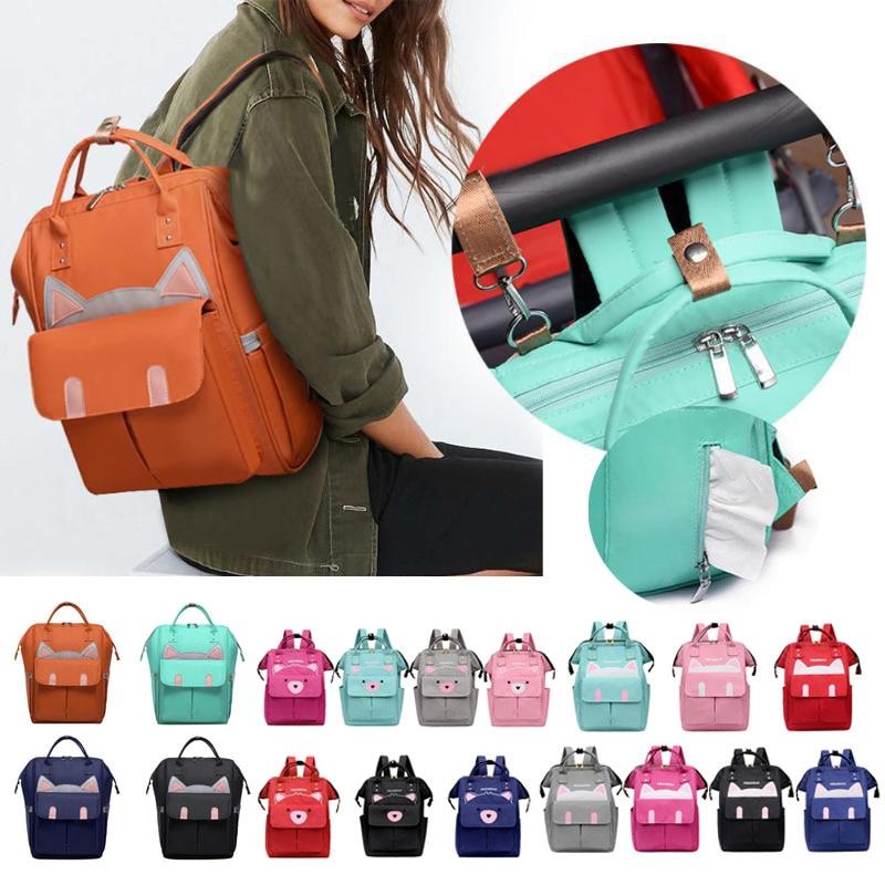 Fashion Mummy Diaper Bag Maternity Nappy Bag Cute Cat Large Capacity Baby Bag Travel Backpack Desinger Nursing Bag For Baby Care