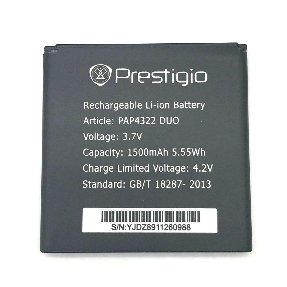 1Pcs High Quality New Original PAP4322 DUO Battery for Prestigio PAP 4322 PAP4322 DUO Mobile Phone in stock + Track Code