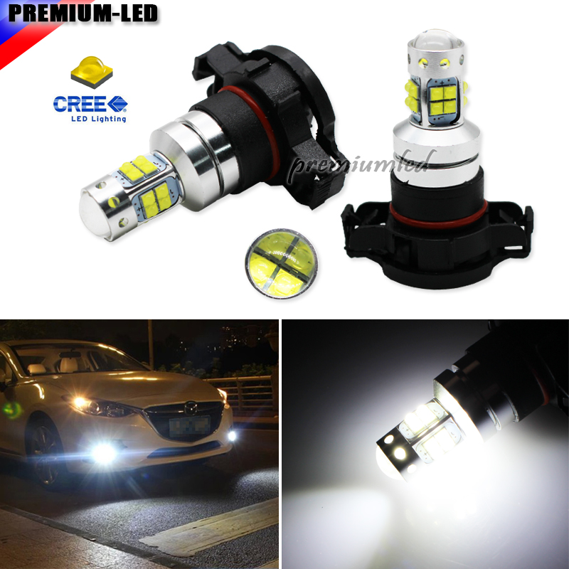 White 9140 9145 H10 9045 9055 High Power CREE w// 12-SMD LED Bulbs For Fog Lights